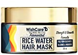 WishCare® Fermented Rice Water Hair Mask- Strength & Growth Formula - For Dry & Frizzy Hair - Free...