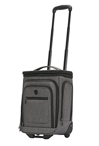 Travelers Club 17' Top Expandable Underseater W/Side USB Port Connector, Dark Gray Suitcase, Carry