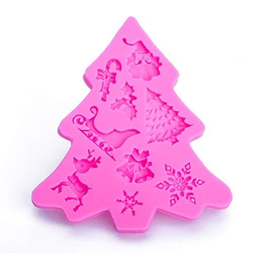 WXX 3 PCS árbol de Navidad de la Pasta de azúcar de Silicona Molde de la Torta de Chocolate Herramienta de la decoración de la Galleta