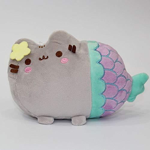 wwwl Jouet en Peluche 18cm Cute Plush Toy Animal Smile Fat Cat Mini Mermaid Stuffed Plush Doll for Children Kids Birthday Best Gift 25X18cm Purple