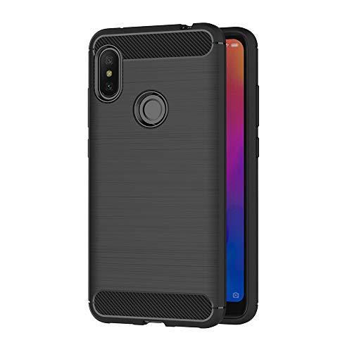 AICEK Funda Xiaomi Redmi Note 6 Pro, Negro Silicona Fundas para Redmi Note 6 Pro Carcasa Xiaomi Redmi Note 6 Pro Fibra de Carbono Funda Case (6,26 Pulgadas)