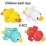 TIAO Kinder Badespielzeug, 4 PCS-Schwingen-Schwimmen-Baby-Badewasser-Spielzeug, Wasser-Bad-Badezimmer-Bad-Ente-Spielzeug.
