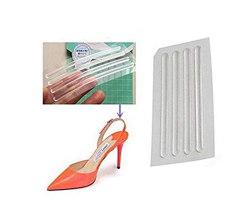 Erioctry, nastro adesivo in silicone sottile e trasparente per evitare l'usura del tallone quando si indossano scarpe da donna, confezione da 6 fogli (24 pezzi)