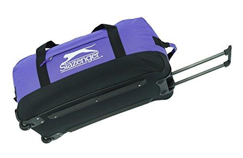 Reisetasche 2 Rollen Trolley Tasche Slazenger Lila Sporttasche FA. Bowatex