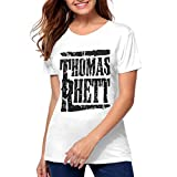 Thomas Rhett Cotton Womens Youth Girls Hot T Shirt T Shirt White L