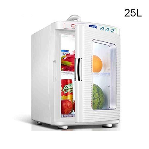 Mini Koelkast, 25L Liter Compact Car Koelkast Met Koeling En Opwarming Functie, For De Slaapkamer, Huis, Voedsel, Dranken, Bureau, Skincare