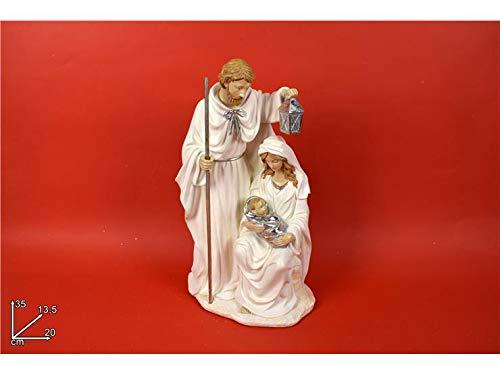 DUE ESSE CHRISTMAS S.r.l. Natività 35 cm con Abiti Bianchi e Oro