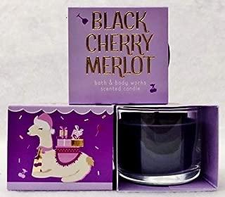 BathBodyWorks Mini Candle Black Cherry Merlot Llama