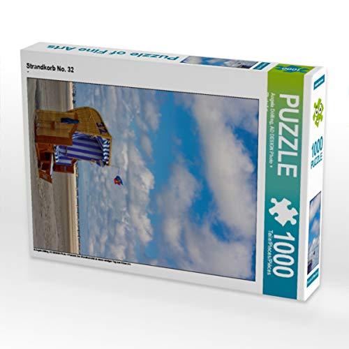 CALVENDO Puzzle Strandkorb No. 32 1000 Teile Lege-Größe 48 x 64 cm Foto-Puzzle Bild von Angela Dölling, AD Design Photo + PhotoArt