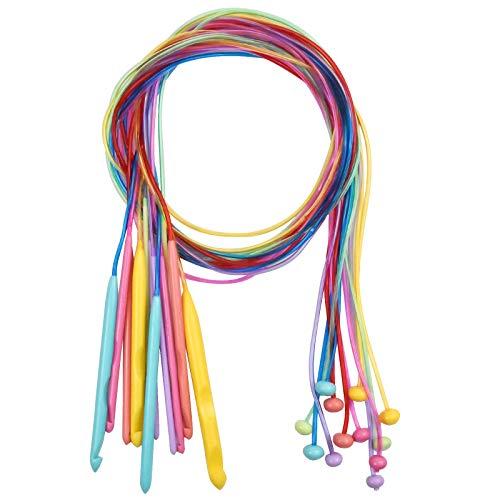 NiceLand Uncinetto Tunisino Set 12 Pezzi Uncinetto di Plastica 3.5mm-12mm Afgha Crochet...