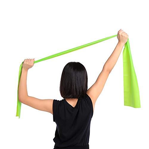 Yoga hangmat met TPR-vezel, elastische yoga-band, Aerial Yoga Swing met Diferente-kleur, geschikt voor jongeren en vrouwen, professionals en beginners en fitnessliefhebbers(Groen)
