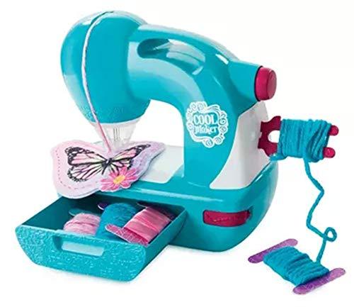 Pequeña Máquina De Coser Exclusiva Genius Sewing Home Play House Creative Girl Tejida A Mano Juguete DIY