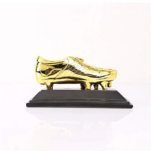 PTKU Campionato di Shooter Calcio Trofeo,Dorato Stivali Resina Mestieri,con Decorazione Regalo,for Bambini E Amico Regalo,Ventole Souvenir,d'oro