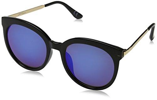Jeepers Peepers Damen JP-1812 Sonnenbrille, Schwarz (Black/Blue Revo), 60