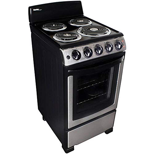 Danby Designer 20-in. Electric Range with Coil Elements and 2.3-Cu. Ft. Oven Capacity in Stainless Steel/Black