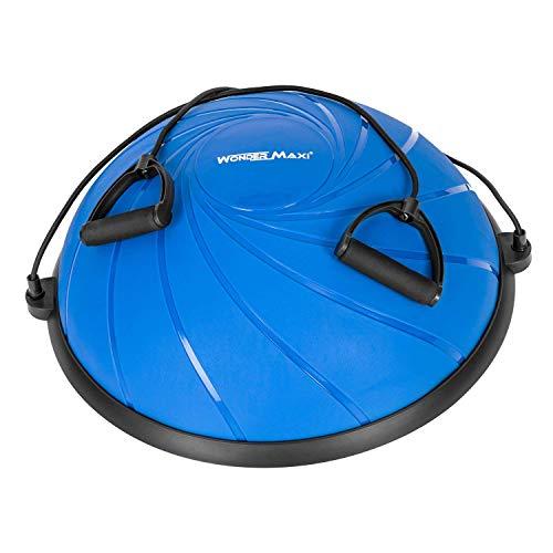 バランスボール バランスディスク 半円型 トレーニング ヨガボール 直径62㎝