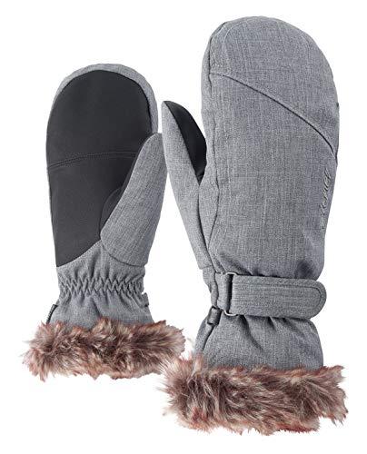 Ziener Damen KEM MITTEN lady glove Ski-handschuhe / Wintersport |warm, atmungsaktiv, grau (grey melange), 7