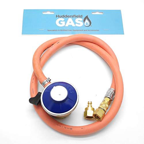 Huddersfield Gas Universal Quick Release 21mm Clip On Butane Bbq Kit Fits 5/8 Unf & 1/4 Bsp Lht