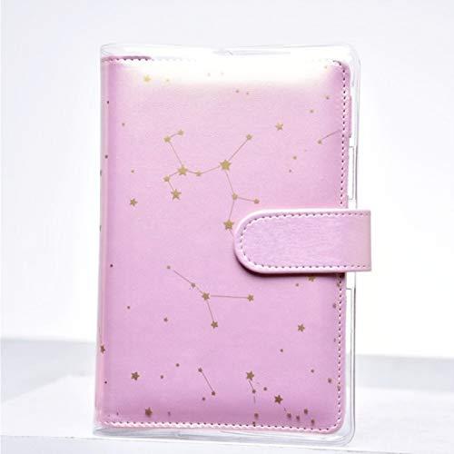 Cuadernos Patrón de constelación PVC Libro de Libro Resistente a la impresión Transparente Funda Protectora de Libro (Color : A6)