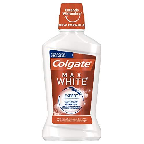 Colgate Mundspülung Max White Expert, 500 ml - für sofort sichtbar weißere Zähne
