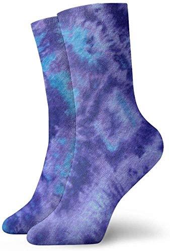 Batik-Papier blau lila Erwachsene kurze Socken Baumwolle Gemütliche Socken für Herren Damen Yoga Wandern Radfahren Laufen Fußball Sport