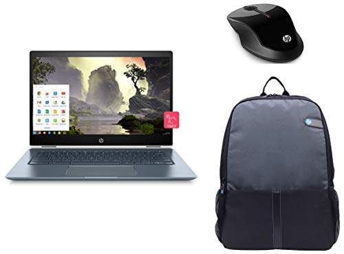 HP Chromebook x360 14-Inch Thin and Light FHD (i3/8GB/64GB eMMC SSD/Chrome OS/Backlit/Touch/Ceramic White/1.6kg), 14-da0003TU