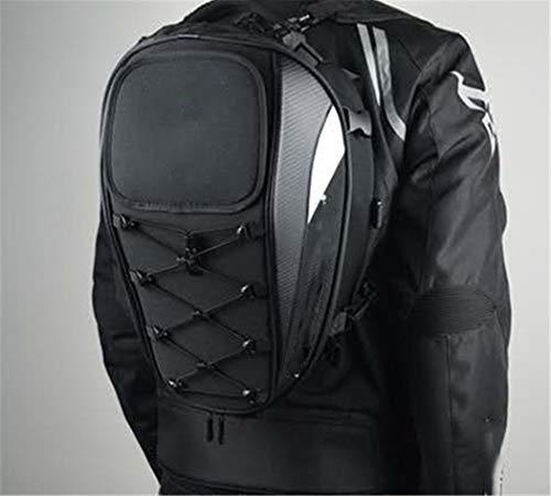 NKJGFV Motocicleta Impermeable Racing Race Moto Casco Bolsas de Viaje Maleta Alforjas with Rider Backpack Tail Bag Black Green A