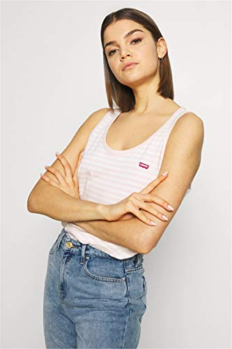 Levi's Essential Tank Camiseta Deportiva de Tirantes, Multicolor (Raita Stripe Peach Blush 0009), Large para Mujer