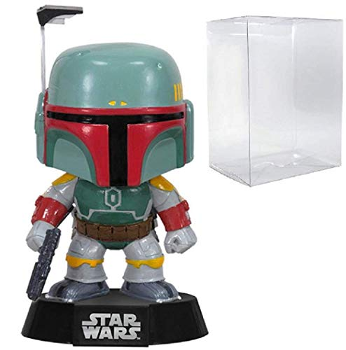 Funko Pop! Star Wars: Boba Fett #08 - Figura de cabeza de bobina de vinilo (con funda protectora de caja de pop)