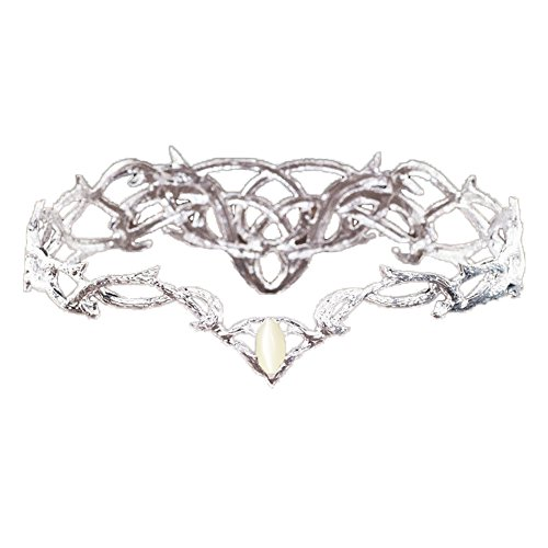 Marrol Bridal Crown Hair Jewelry For Wedding Party Pageant Silver Plated Headdress