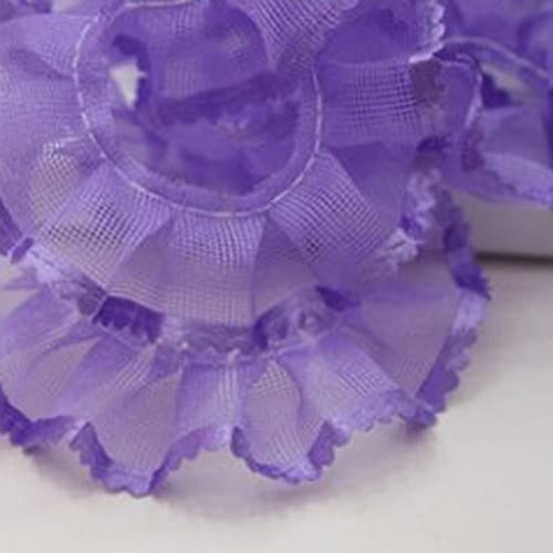lowest price NEW before selling ☆ QuickSwap 1M Latest Pleated Lace Fabric Ribbon L 2cm Purple Blue