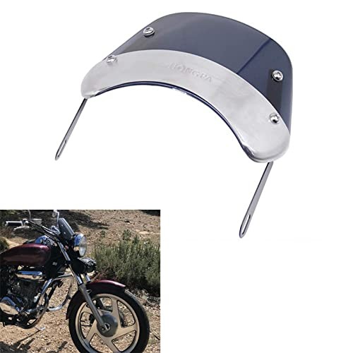 AnXin - Parabrisas redondo para faros delanteros de motocicleta, de 12,7 a 17,8 cm, parabrisas carenado perfecto para la mayoría de motocicletas Dirt Pit Bike Cafe Racer