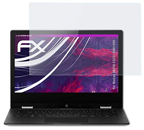 atFolix Glasfolie kompatibel mit Medion AKOYA E3221 MD61095 Panzerfolie, 9H Hybrid-Glass FX Schutzpanzer Folie