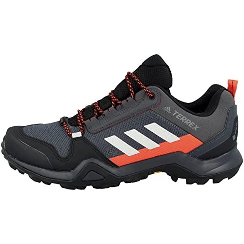 adidas Herren Terrex Ax3 GTX Trekking-& Wanderhalbschuhe, Mehrfarbig Grpudg Griuno Rojsol, 44 2/3 EU