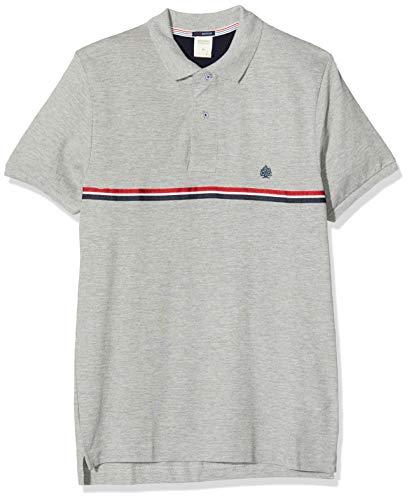 Springfield Herren 2pc Polo Tape Organic Mel Poloshirt, Grau (Grey 43), Large