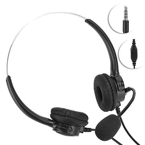 SALUTUY Auriculares para computadora de 3,5 mm, micrófono para Podcast de entrevistas, cómodos y Suaves Auriculares para computadora Profesionales con micrófono para Auriculares para Juegos en