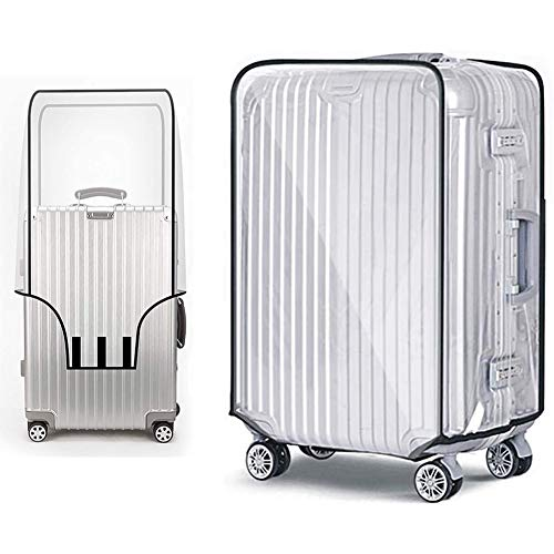 SFJRY 2pcs Suitcase Cover Protectors, Clear PVC Luggage Protector Waterproof DustProof Scratchproof Trolley Case Cover 28 Inch Fits for Business Trip Travel School Daily Using (28 Inch)
