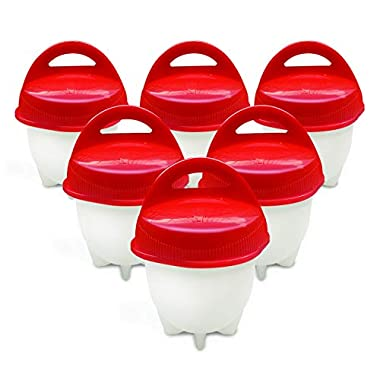 Egg Cooker-Hard Boiled Eggs without the Shell,Non Stick Silicone,boiled eggs mold, AS SEEN ON TV,6 Egg Cups