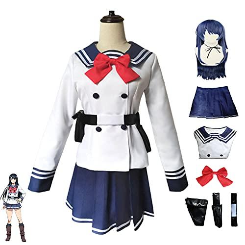 Disfraz de Cosplay de invasin de gran altura, traje de Yuri Honjo, uniforme escolar de anime, traje de marinero, conjunto completo, disfraz de fiesta de Carnaval de Halloween, Prop