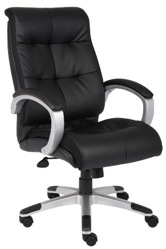 Boss Office Products Double Plush High Back Executive Chair in Black