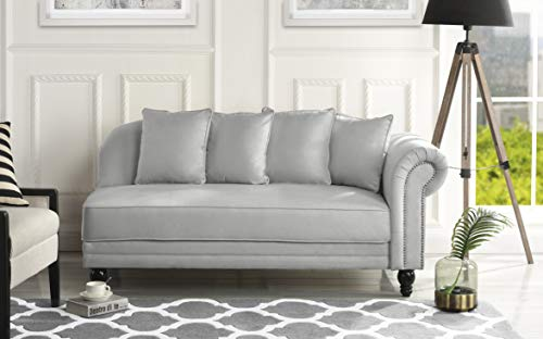 Sofamania Large Living Room Chaise Lounge