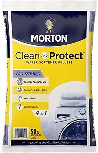 Morton Salt 1501 Clean Protect System Water Softener, 50 lbs, White, 50 lbs (2, 50 lb, White)