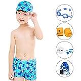 SO-buts Jungen gedruckte Badehose Badekappe Anzug Mode gedruckt Badeanzug, Jungen drucken Badehose Badekappe gesetzt -
