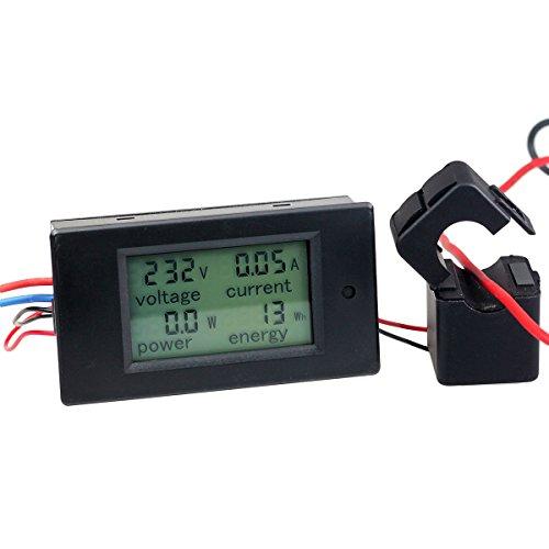 AC 100A Digital Power KWh Watt Meter Volt Energy Multimeter Amp Voltmeter Ammeter with Current Transformer CT,Open-close Current Transformer
