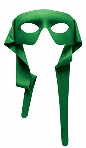 shoperama Accessoires für Superhero Herren Kostüm, Maske Grün