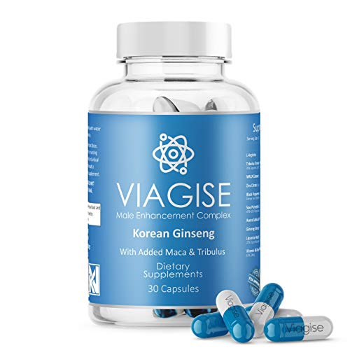 Viagise - Male Enhancement Capsules (30) 500mg | Korean Ginseng Herbal Supplement with Added Maca & Tribulus | Endurance and Stamina | Long Lasting & 100% Natural