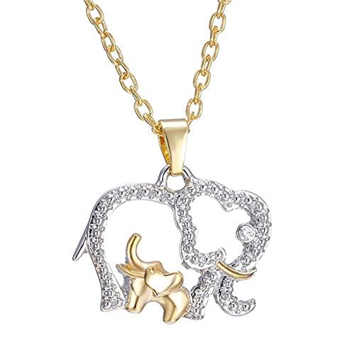 ZYYXB Frauen Halsketten Kleine Elefanten Halskette Mädchen Nette Schlüsselbeinkette Schmuck Nette Tier Halskette Frauen Lange Halskette
