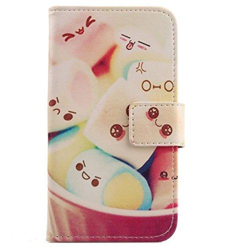 Lankashi PU Flip Leder Tasche Hülle Case Cover Handytasche Schutzhülle Etui Skin Für Alcatel One Touch Pop C7 7041D Lovely Design