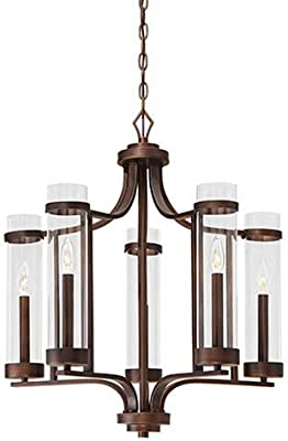 Amazon.com: Chandeliers 4 Light Bulb Fixture with Burnished ...