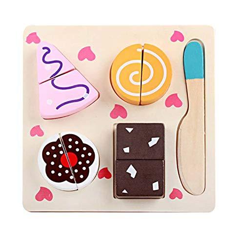 GFDFD Juguete Educativo para niños, Aprendizaje temprano, Juguetes de Madera, Cocina 3D, Tabla de Frutas y Verduras, Juguetes de Navidad para niños (Color : A)